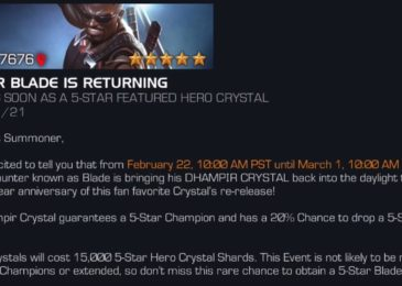 Update: Do you want Blade? Arrived to Featured Crystal Now