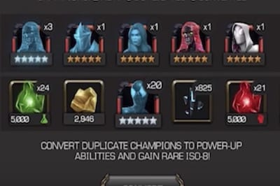 Duel Target Sheet For Marvel Contest Of Champions December