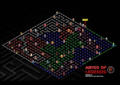 Abyss Of Legends (AOL) Full Map and Easy Path