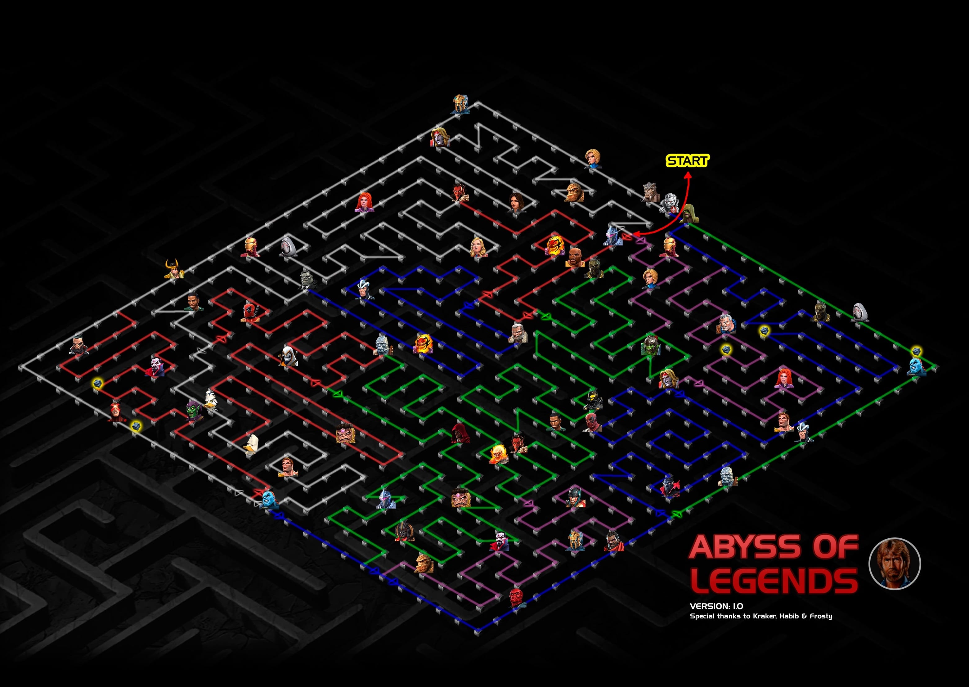 Abyss of Legends Map