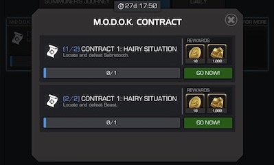 Solo Objectives (M.O.D.O.K CONTRACT)