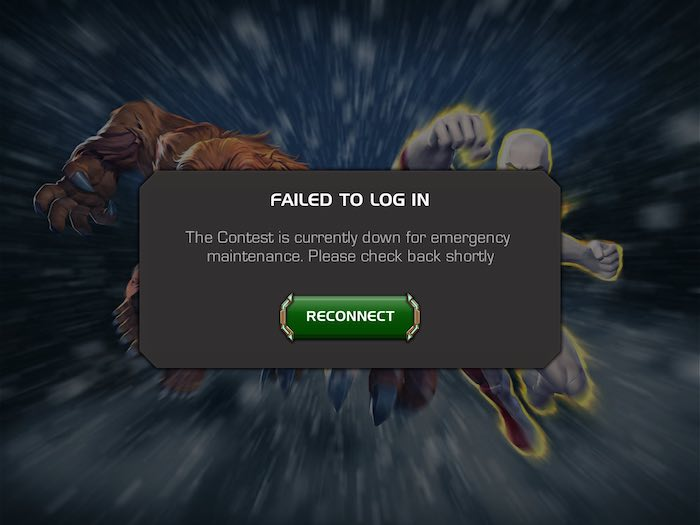 Contest Down for Emergency Maintenance